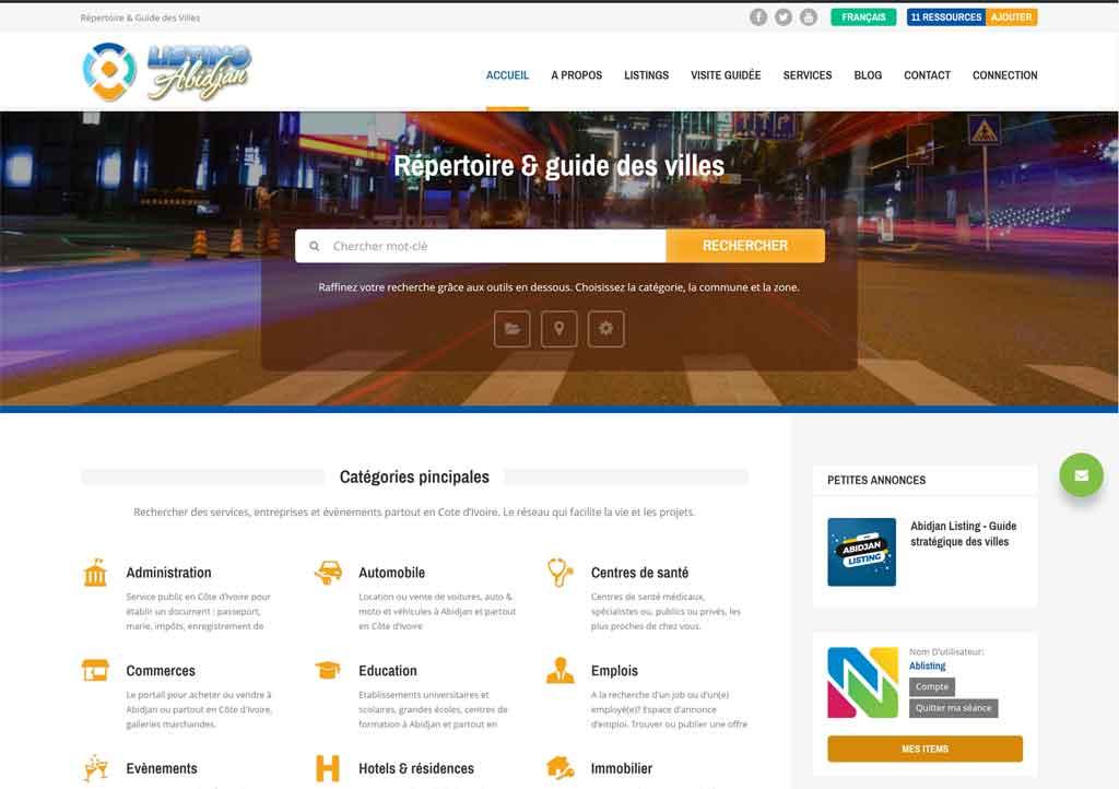 Abidjan listing- répertoire guide des villes