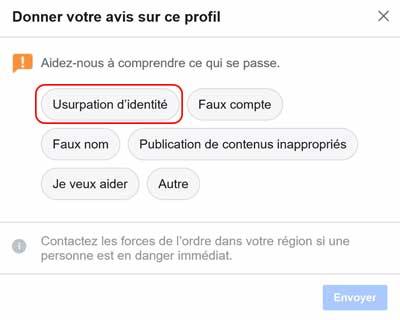 Guide pour usurpation d'identité Facebook