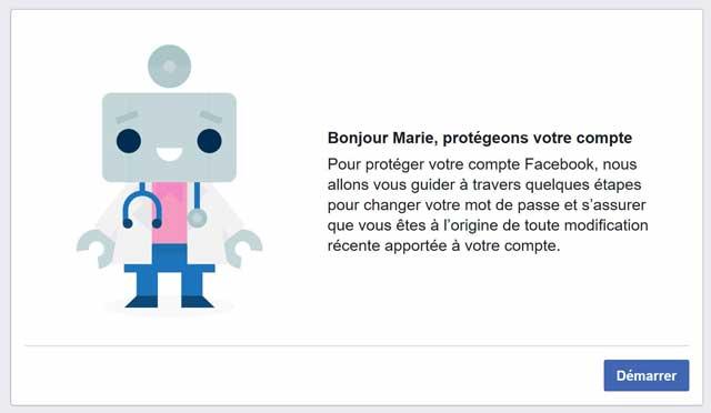 Compte Facebook piraté aide